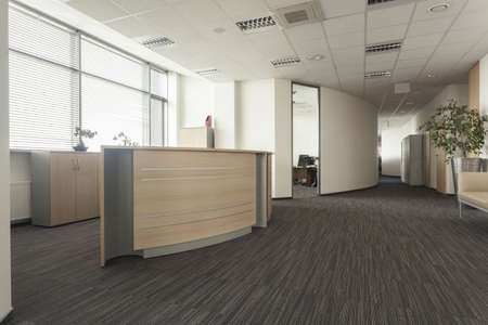 lobbies: Modern furniture in a new office interior