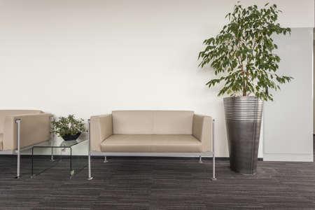 vestibulos: Moderno sof� de pie en un pasillo de la oficina