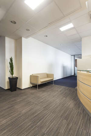 bank interior: Corridor in a contemporary and new office Stock Photo