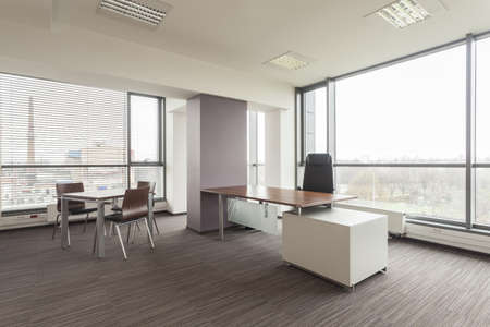 office appliances: New office interior with a modern furniture
