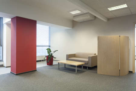 Waiting room in a modern office interior photo