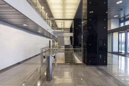 elevator: Interior of a modern office building