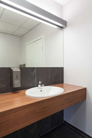 public house: Counter and sink in a public toilet