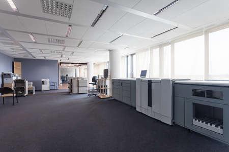 Aparatos de impresión en los negocios de oficina, trazadores Foto de archivo