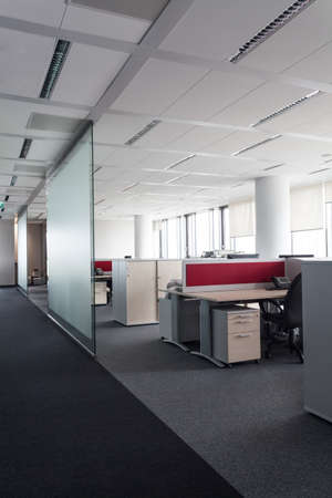 bank interior: Interior of a office, places to work