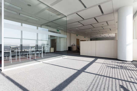 business centre: New modern business centre with a glass room