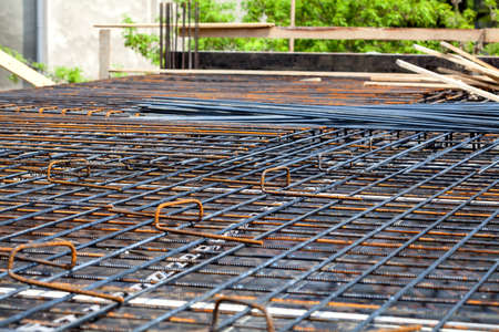 Closeup of metal rods at the building site Stock Photo - 19913378