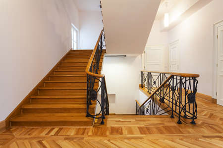 Front view of an elegant new staircase Stock Photo - 19977355