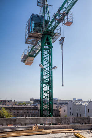 Metal huge crane above the building site Stock Photo - 20019337