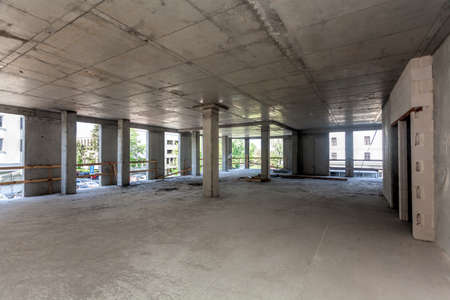 slabs: Framework of the concrete building, interior Stock Photo