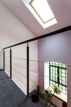 Balcony or entresol in a modern loft interior photo
