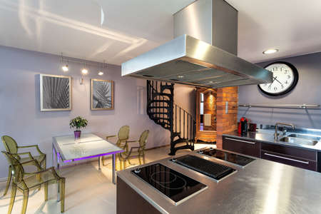 Modern original kitchen and dining room interior photo