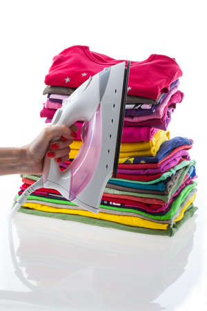 Arranged composition laundry on isolated beckground Stock Photo - 20864012