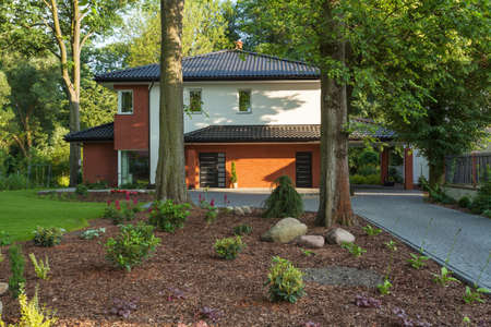 A modern house surrounded by trees Stock Photo - 20903961