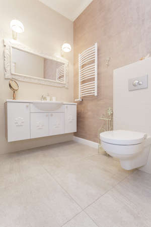 Tuscany - interior of bright toilet room photo