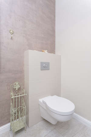 Tuscany - toilet in bright bathroom Stock Photo - 21122678
