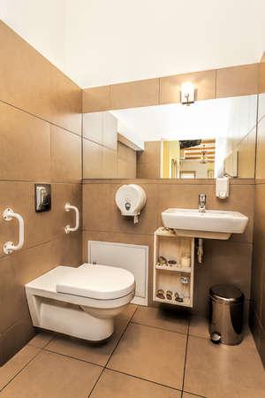 mediterranean interior: Mediterranean interior - a classy modern brown bathroom