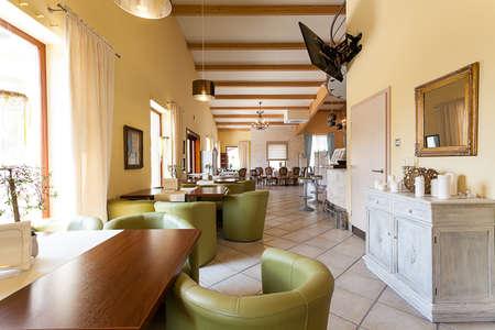 mediterranean interior: Mediterranean interior - an elegant corridor in a spacious interior