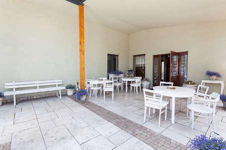 mediterranean interior: Mediterranean interior - a bright and classy porch Stock Photo