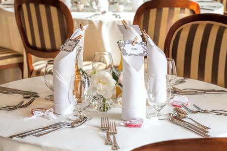 Mediterranean interior - an elegant wedding tableware photo