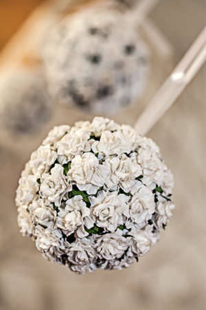 mediterranean interior: Mediterranean interior - a white ball made of small flowers