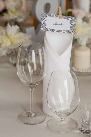 mediterranean interior: Mediterranean interior - a table set for a bride Stock Photo