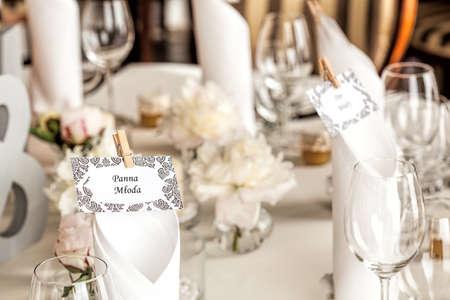 Mediterranean interior - table set for a bride photo