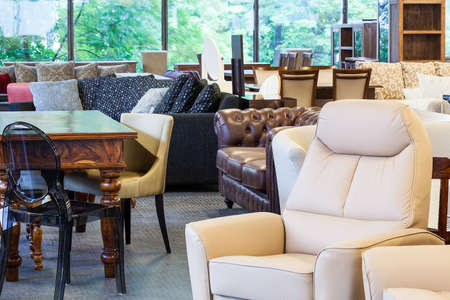seating furniture: A shop with stylish and classy furniture pieces