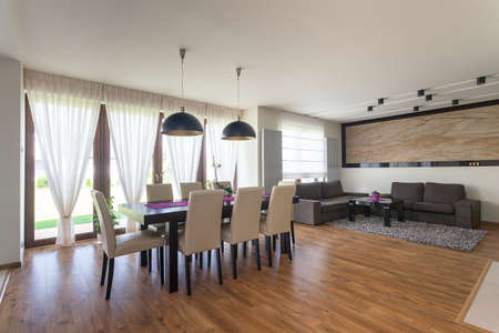 Appartement urbain - salon et un canap� confortable photo