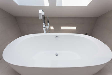 Urban apartment - white bath with a silver armature Stock Photo - 21822132