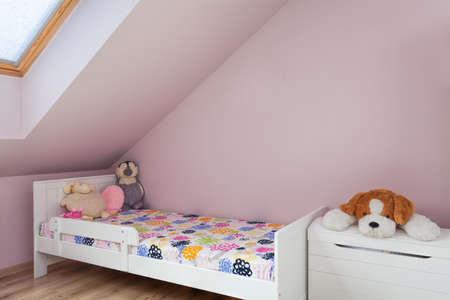 Urban apartment - wooden bed in child's room Stock Photo - 21822138
