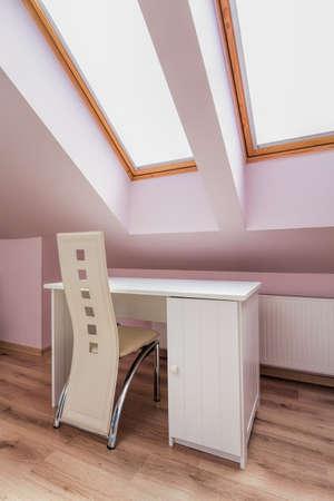 Urban apartment - white furniture in the attic room Stock Photo - 21822140