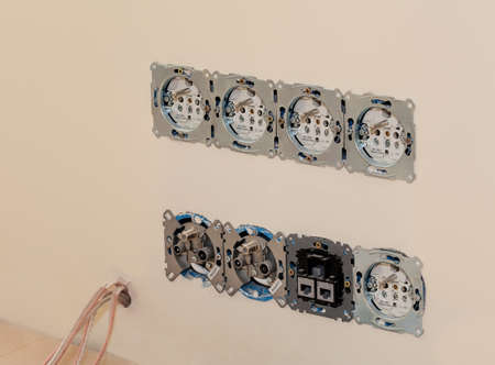 Open power sockets ready to be repaired Stock Photo - 21822477
