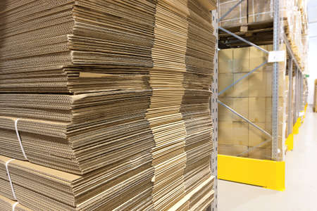 Heap of a wavy corrugated for boxes photo