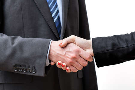 Making a deal finished by a business handshake photo