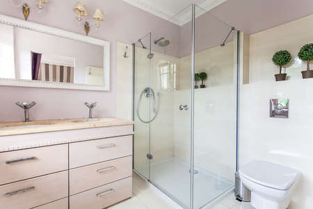 Vintage mansion - a bright and elegant bathroom Stock Photo - 22161593