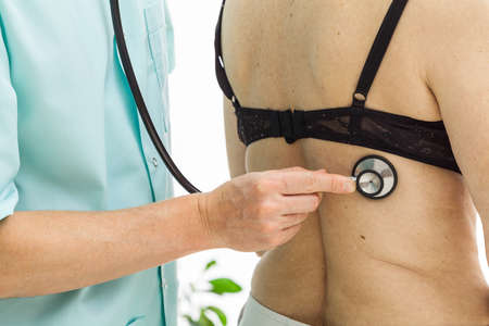 auscultation: Examining a patient