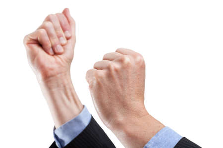 'body language': Tight hands ready encouraging, body language