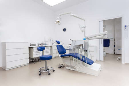 Interior of a dentists office and special equipment photo