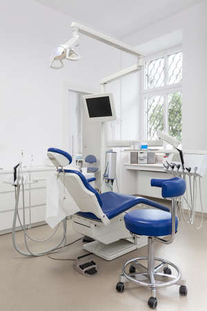 Vertical view of an equipment in a dental ofiice photo