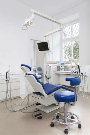 Vertikale Ansicht eines Geräts in einer zahnärztlichen ofiice