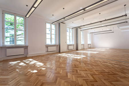 parquet: Bright elegant interior for party or banquet Stock Photo