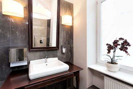 Interior of a classy bathroom with original furniture Stock Photo - 22306084
