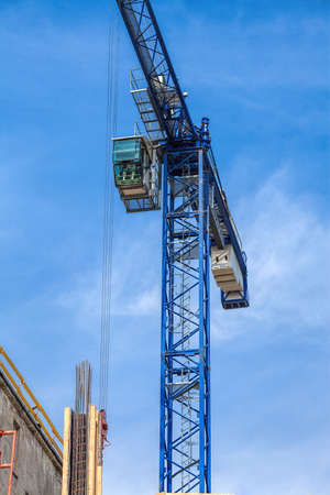 Vertical view of a huge crane on sky background Stock Photo - 22301972