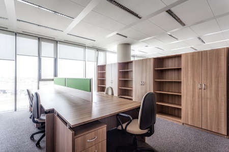 seating furniture: Modern office building and a conference room