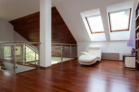 Modern stylish attic, mezzanine with place for relaxing Stock Photo - 22418228