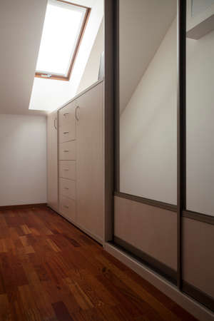 Modern house: room with wardrobe, vertical view photo