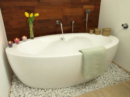 Hot bath with fruity aroma and foam Stock Photo - 22418247