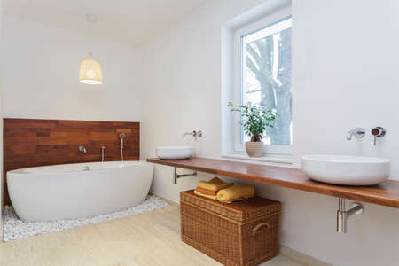 travertine house: Interior of bathroom in african style
