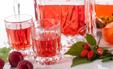 wildberry: Two shots with homemade raspberry liqueur